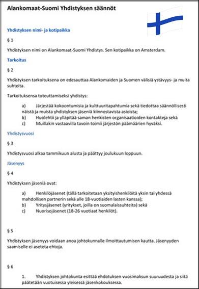 Statuten VNF Fins