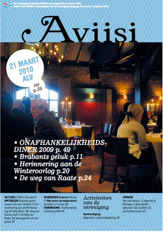 Verenigingsblad Aviisi 2010-1