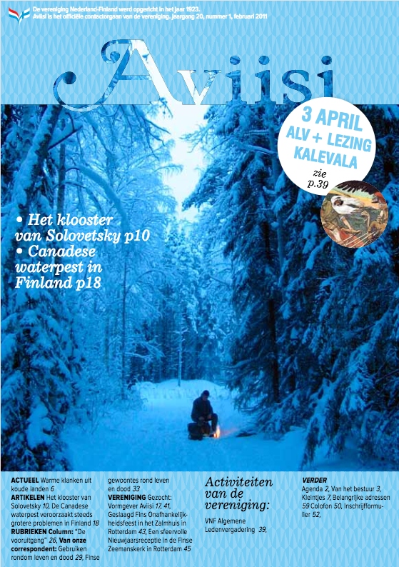 Verenigingsblad Aviisi 2011-1