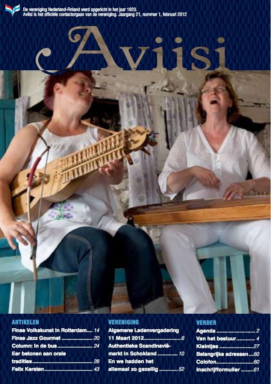 Verenigingsblad Aviisi 2012-1