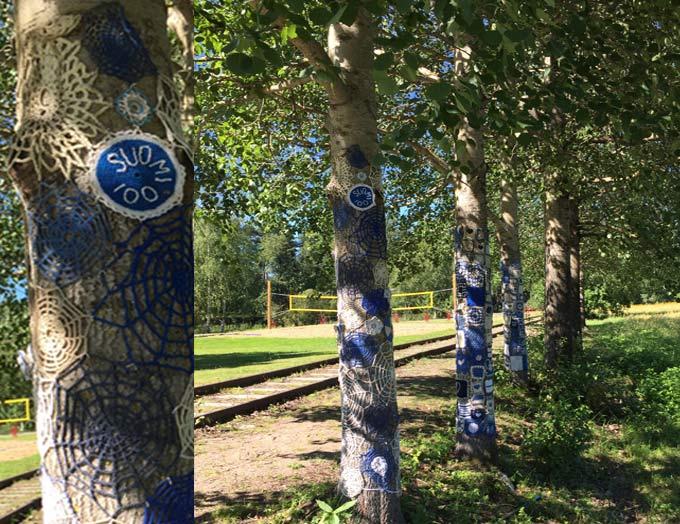 aangeklede bomen in Finland