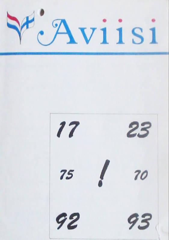 Verenigingsblad Aviisi 1992