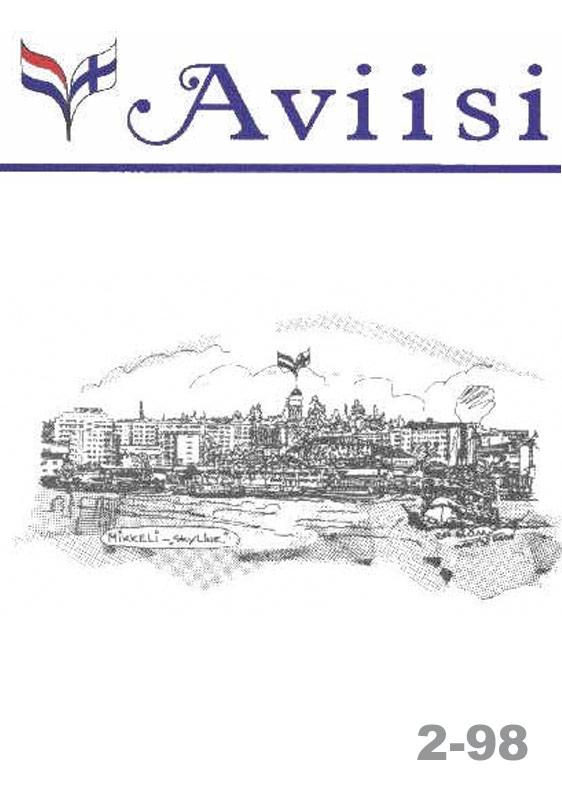 Verenigingsblad Aviisi 1998-2
