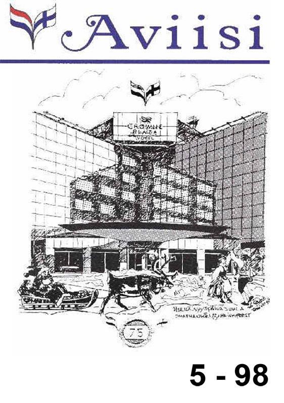 Verenigingsblad Aviisi 1998-5