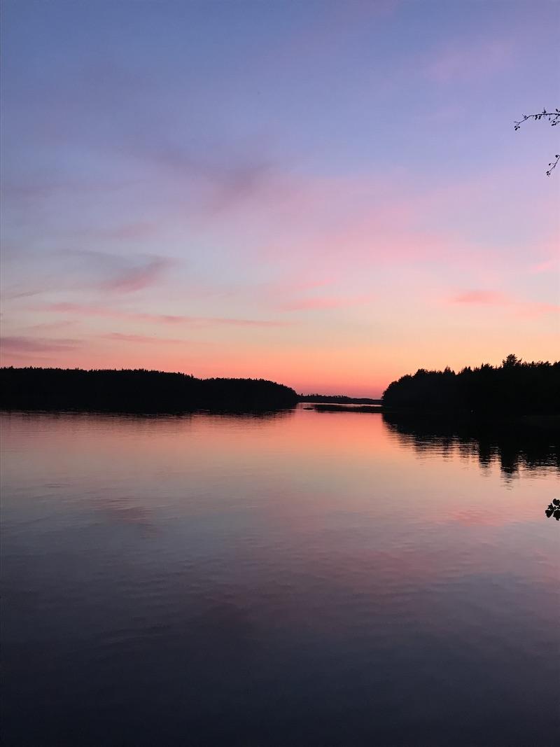 Saimaa lake taken in front of our sauna on our Tölkki island