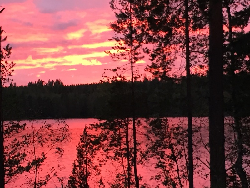 Nightfall in Finland